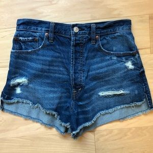 Abercrombie & Fitch High Waisted Button Fly Shorts